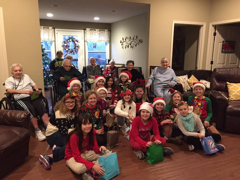 Clover Care Home Senior Retirement Residence Kansas City holiday with children