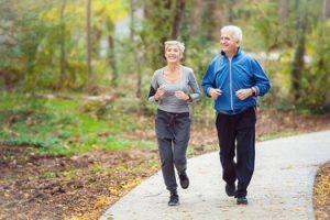 older adults jogging