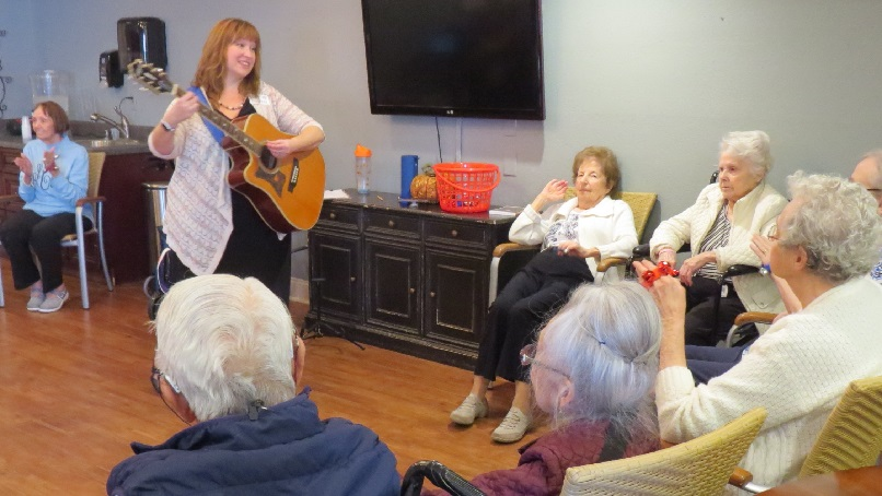 Music therapy senior retirement residence in Kansas City Clover Care Home blog